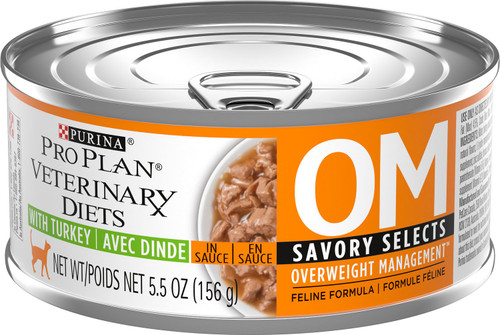 Purina Veterinary Diets Cat Food OM [Savory Selects Gravy]