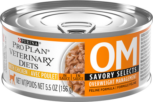 Purina Veterinary Diets Cat Food OM [Savory Selects with Chicken]