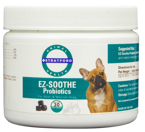 EZ-Soothe Probiotics Soft Chews for Small & Medium Dogs (30 count)