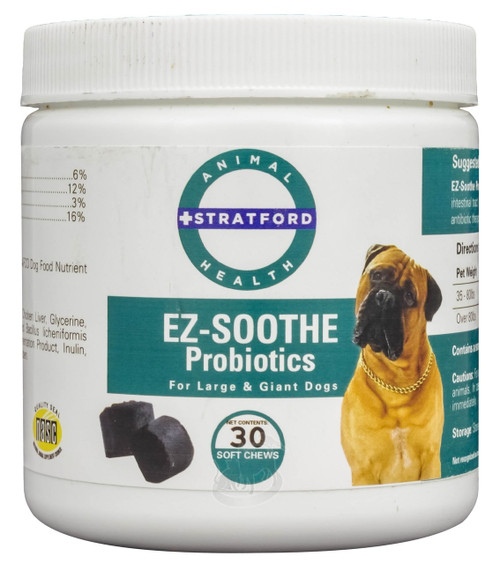 EZ-Soothe Probiotics Soft Chews for Large & Giant Dogs (30 count)