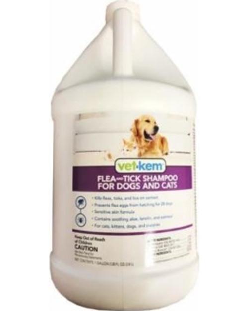 Vet-Kem Flea & Tick Shampoo for Dogs & Cats (1 gallon)