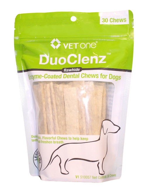 DuoClenz Rawhide Chews for Small Dogs [0-11 lbs] (30 count)