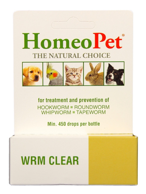 HomeoPet Wrm Clear [Tape, Hook, Round Worms] (15 mL)
