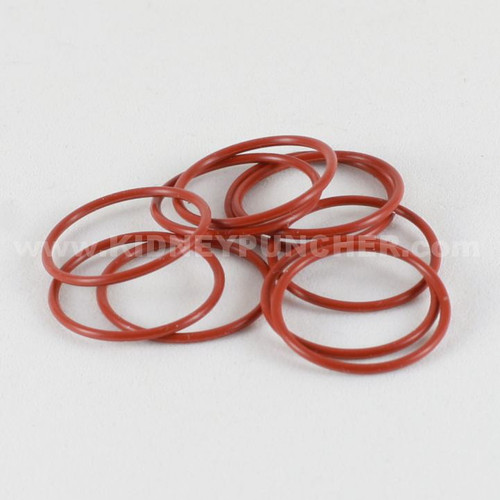 15mm Orange Silicone O-Rings 10 Pack