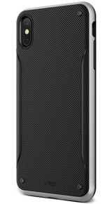 VRS Design High Pro Shield iPhone Xs Max | Steel Silver | Back