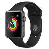 Apple Watch Sport 38mm Space Grey Aluminium Case with Black Sport Band