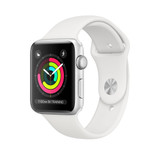 Apple Watch Sport 42mm Silver Aluminium Case with White Sport Band (Series 3)