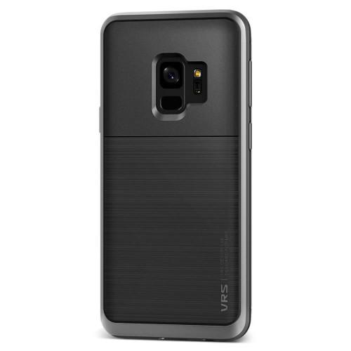 VRS Design High Pro Shield Samsung Galaxy S9   Steel Silver   Back
