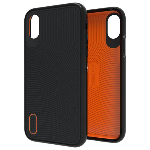 Gear4 Battersea   Black iPhone X   Front and Back