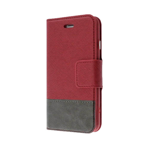 Broadway 2-in-1 RFID Shield Folio Case iPhone XS Max | Red | Front
