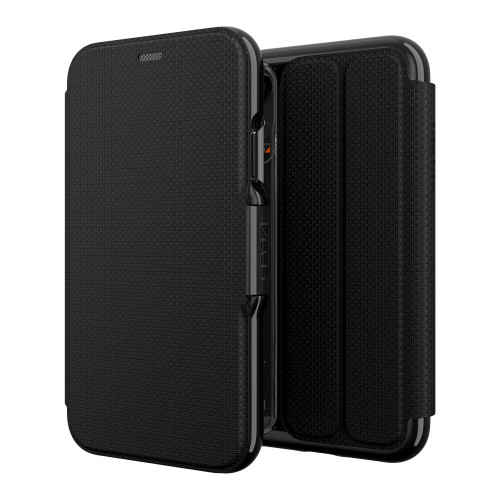 Gear4 D3O Black Oxford Case iPhone XR | Front and Back