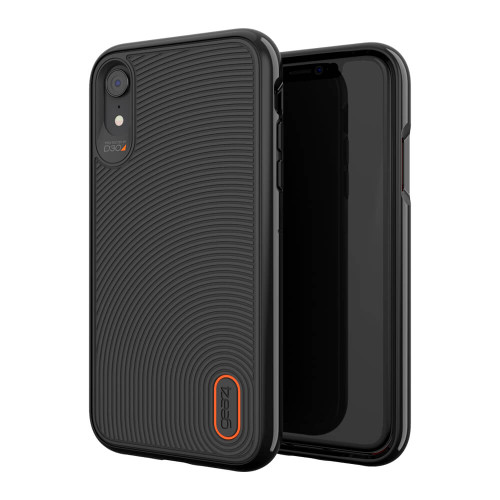 iPhone Xs Max Gear4 D3O Black Battersea Case | Front and Back