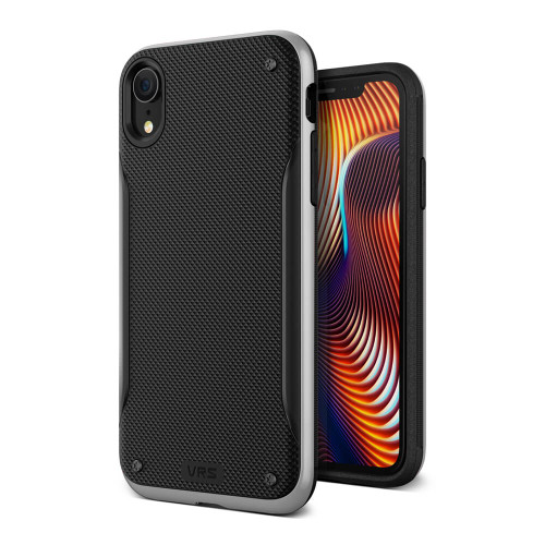 VRS Design High Pro Shield iPhone XR   Silver   Front and Back