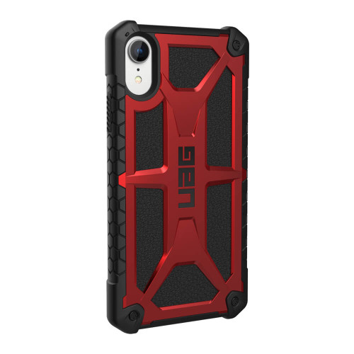 iPhone XR UAG Monarch Red and Black Case | Back