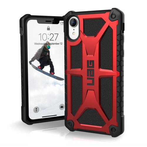 iPhone Xs Max UAG Monarch Red and Black Case |  Front and Back