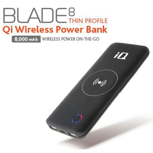 IQ BLADE8 QI WIRELESS CHARGING BANK 8000MAH