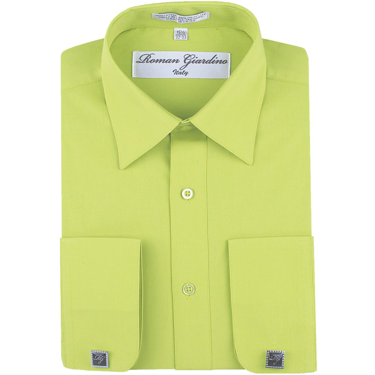 Roman Giardino Mens Cotton Dress Shirt Only 26 Light Gray