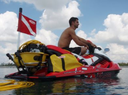 Saddle bag set, starboard side for Brownie's Third Lung personal watercraft application