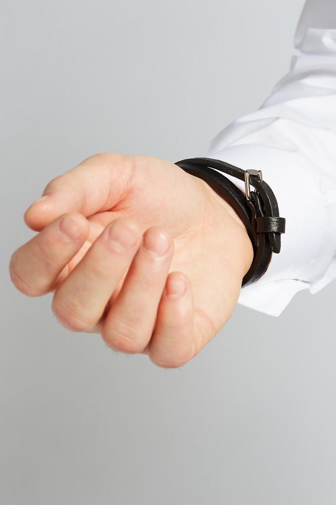 Ambition Leather Double Wrap Bracelet