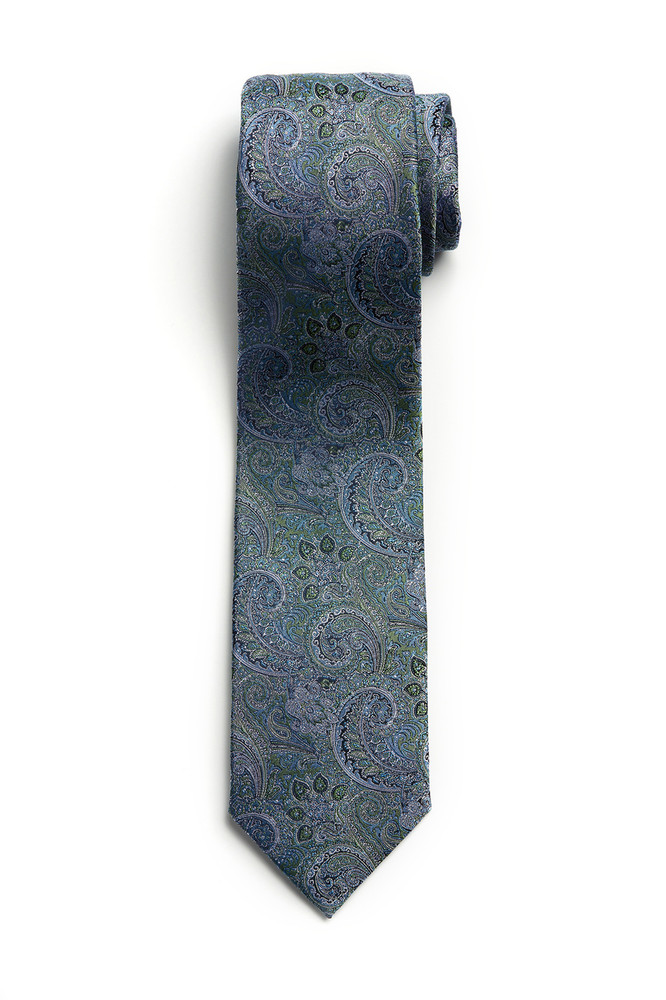 August McGregor Mint Green Paisley Tie