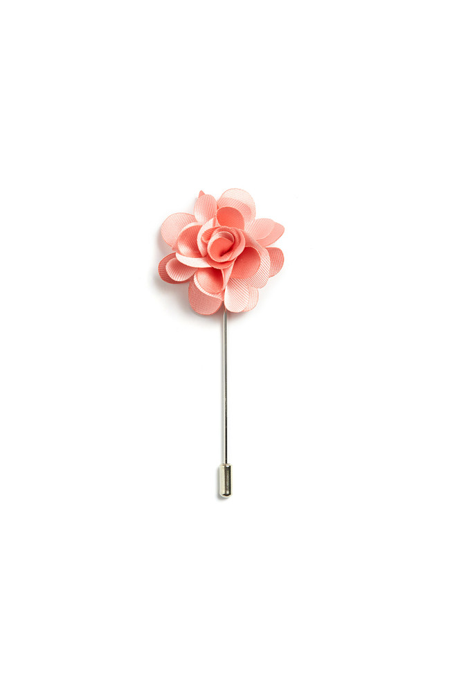 August McGregor Pink Floral Lapel Pin