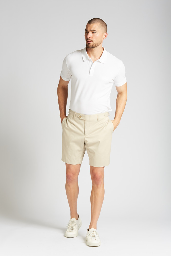 August McGregor Slim-fit Stretch Cotton Chino Shorts in Khaki