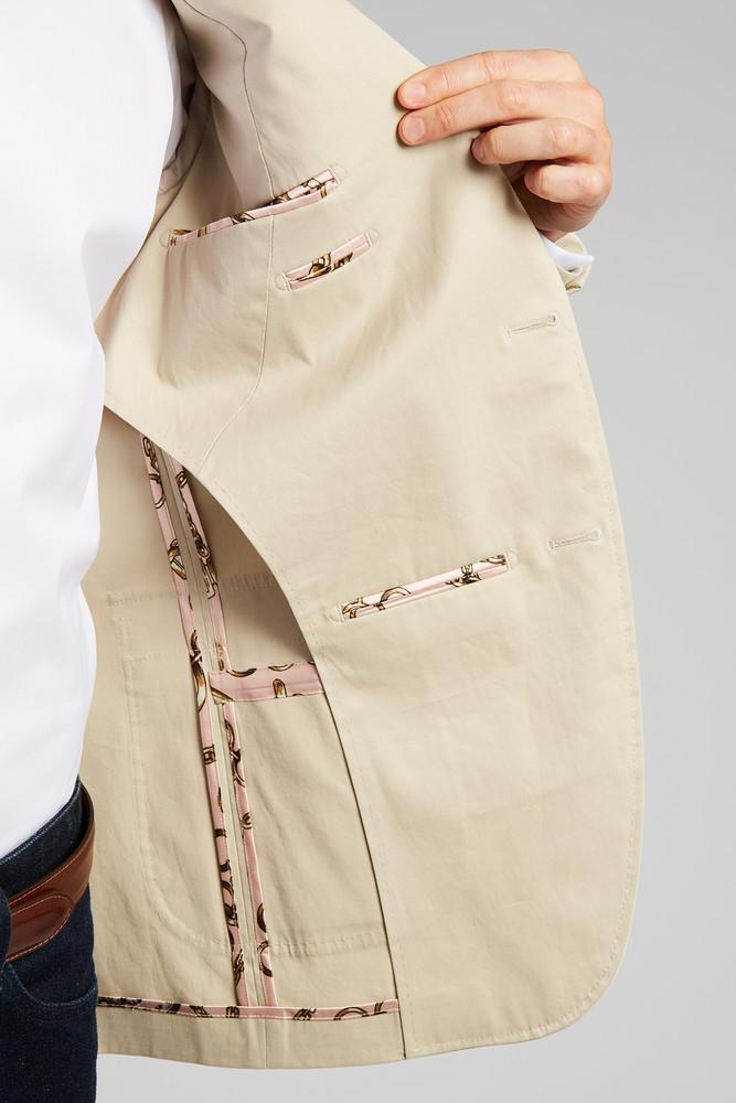August McGregor Slim-fit Stretch Cotton Chino 2-Piece Suit in Khaki