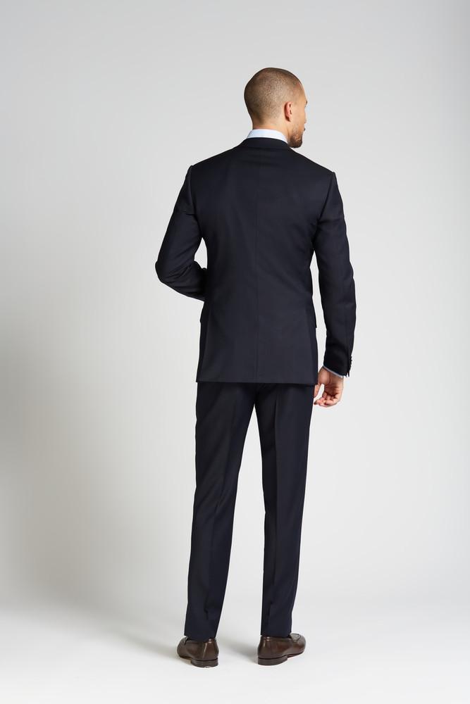 Slim-fit 4 Season Wool 3-Piece Suit in Midnight Navy