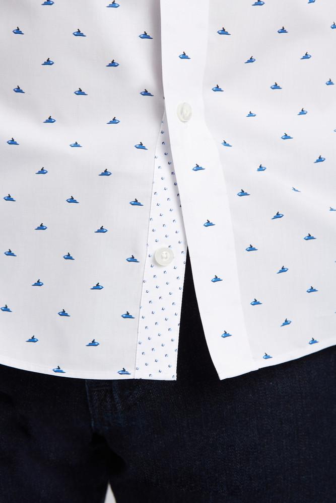 August McGregor Jet Ski Short-Sleeve Button-Front Shirt