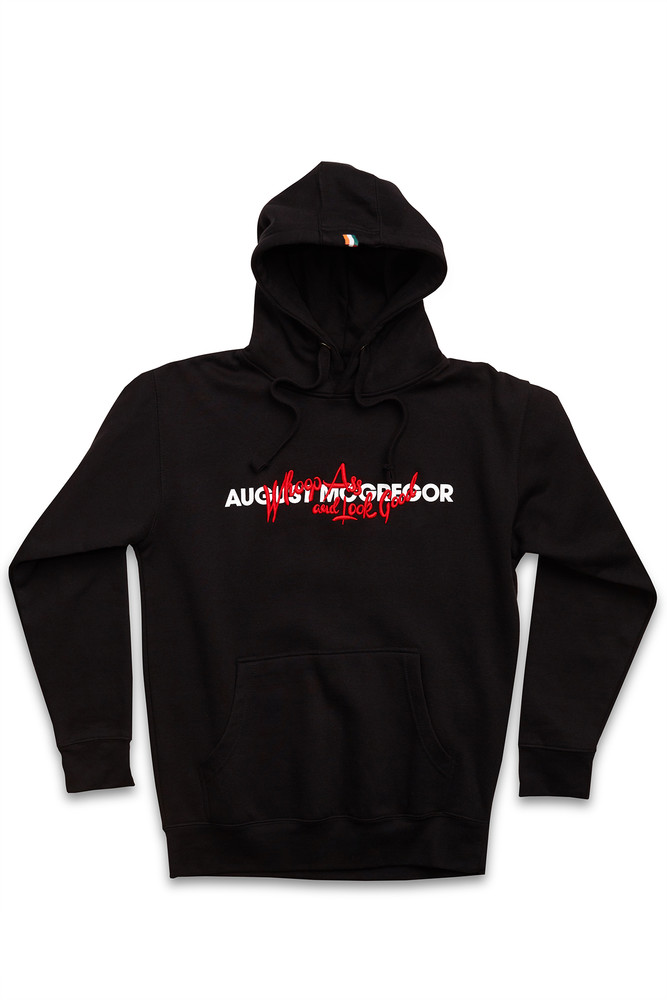 August McGregor Whoop Ass Hooded Sweatshirt in Black