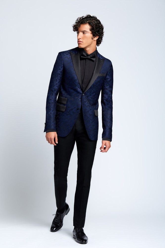 August McGregor Evening Dress Shirt with Plain Placket in Black