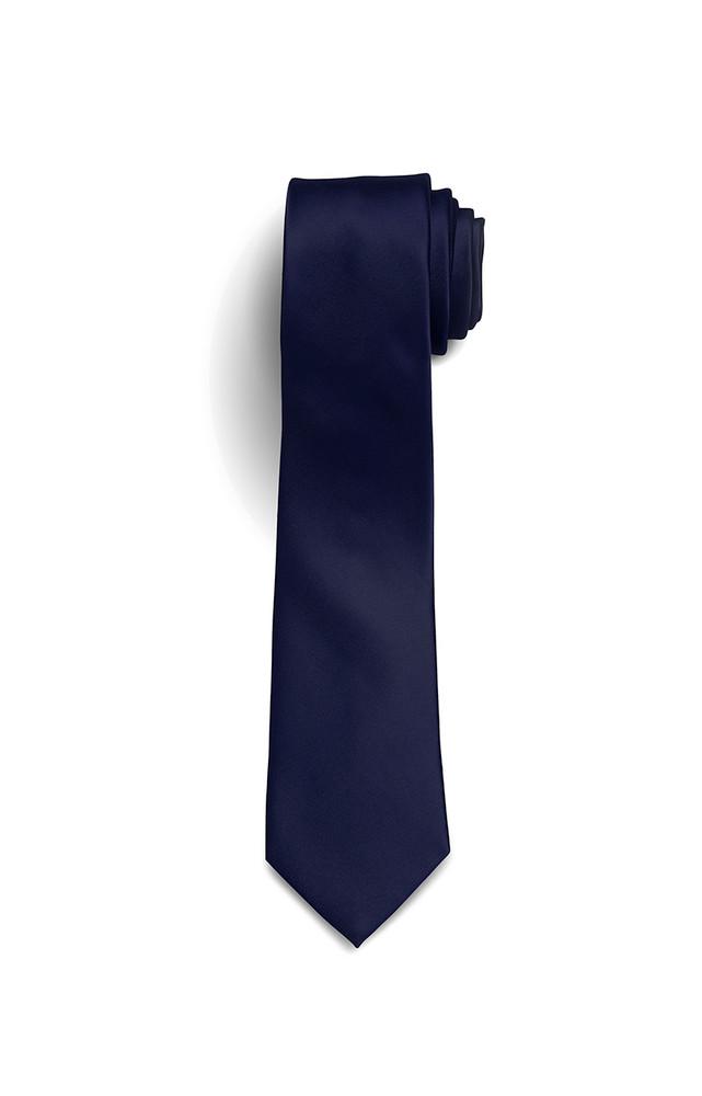 August McGregor Solid Silk-Satin Navy Tie