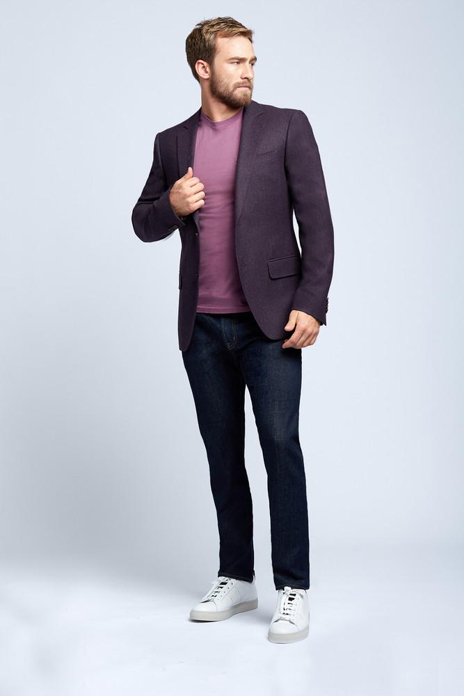 August McGregor Plum Flannel Wool Sport Coat