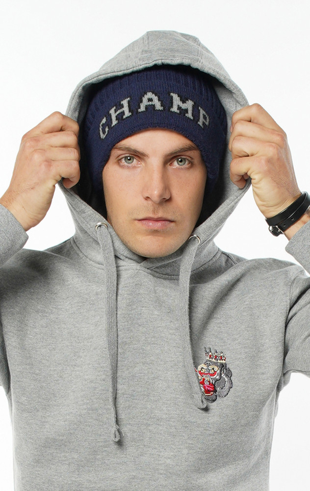 August McGregor Champ Champ Jacquard Beanie in Navy