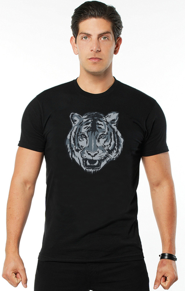 August McGregor Dublin Tiger silk-screened T-shirt in Black