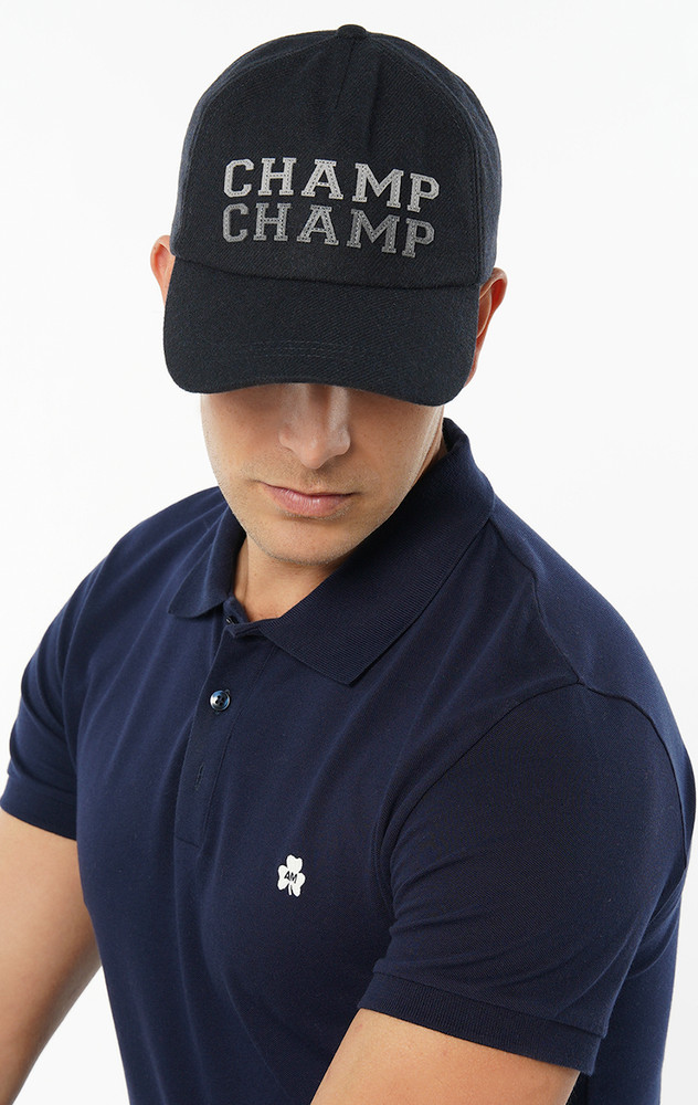 August McGregor wool-blend Champ Champ embroidered patch baseball cap