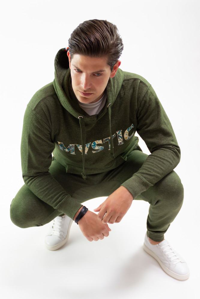August McGregor Jogger Sweatpants in Heather Green