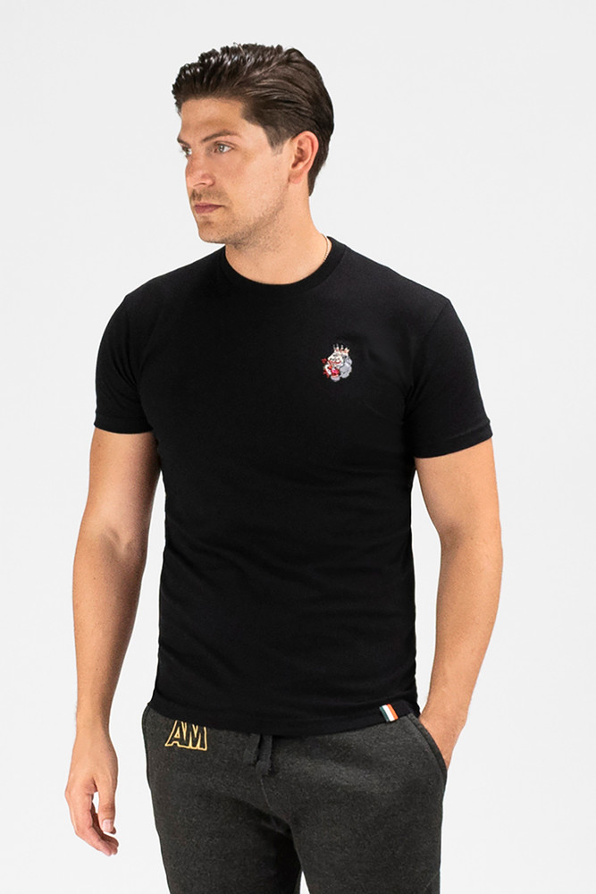 August McGregor embroidered 3-color blood hungry gorilla premium t-shirt in black