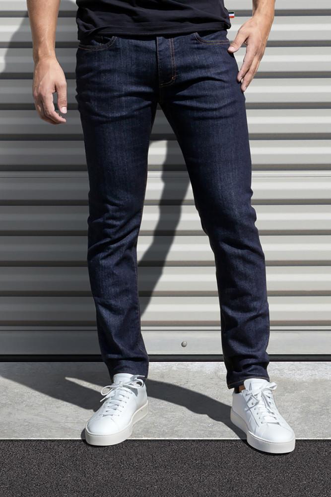 AM X PRPS Premium Denim Jeans in Raw Indigo