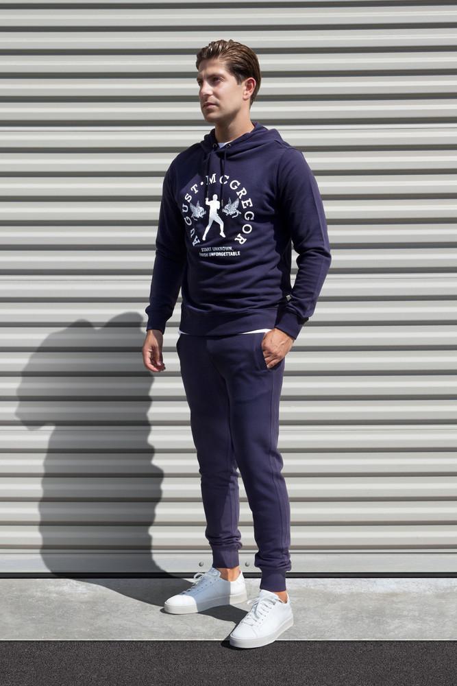 AM X PRPS Fighter Hooded Sweatshirt in Navy