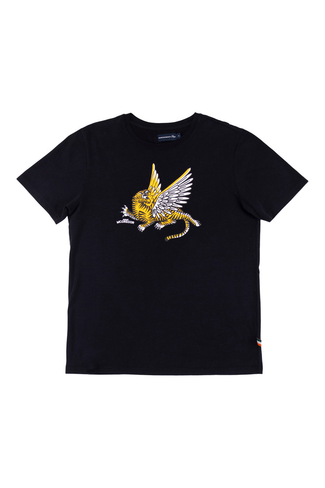 AM X PRPS Embroidered Flying Tiger T-Shirt in Black