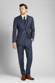 Blue Grey with Red Wyndham Plaid 3-Piece Suit