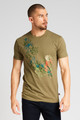 Crystal Cove Bloom Graphic T-Shirt Olive