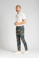 Slim-Fit Cotton Trousers in Crystal Cove Navy Bloom