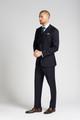 August McGregor Slim-fit 4-Season Wool 3-Piece Suit in Midnight Navy
