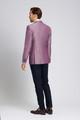 August McGregor Slim-fit Linen-blend Jacket in Plum
