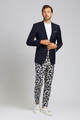 August McGregor Magnolia Navy Slim-fit Cotton Trousers