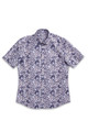 August McGregor Blue Paisley Short-Sleeve Button-Front Shirt