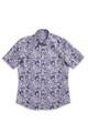 August McGregor Blue Paisley Short-Sleeve Button-Front Shirt
