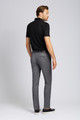 August McGregor Slim-fit Super 130s Wool Trousers in Grey with Lavender Glen Plaid